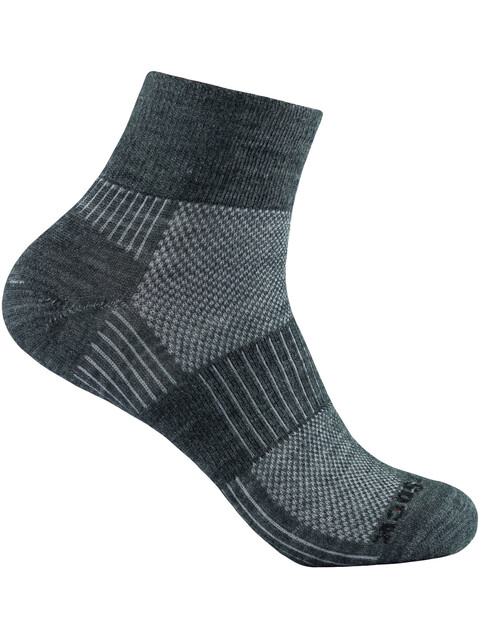 Wrightsock Merino Coolmesh II Quarter - Chaussettes - gris